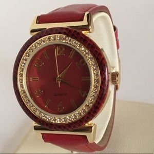 NWT Red and Gold Watch